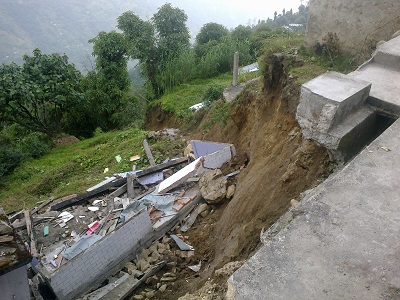 Landslide at Rimbick