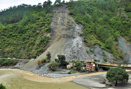 Landslide at Dharasu Bridge